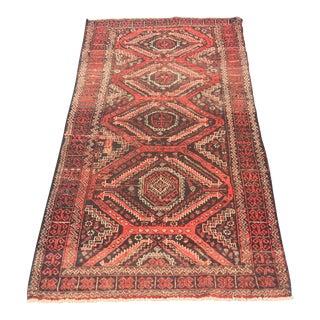 "Vintage Persian Baluchi Rug - 3'x5'7"""