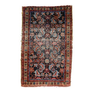 "Distressed Vintage Persian Karajeh Rug - 2'9"" X 4'4"""