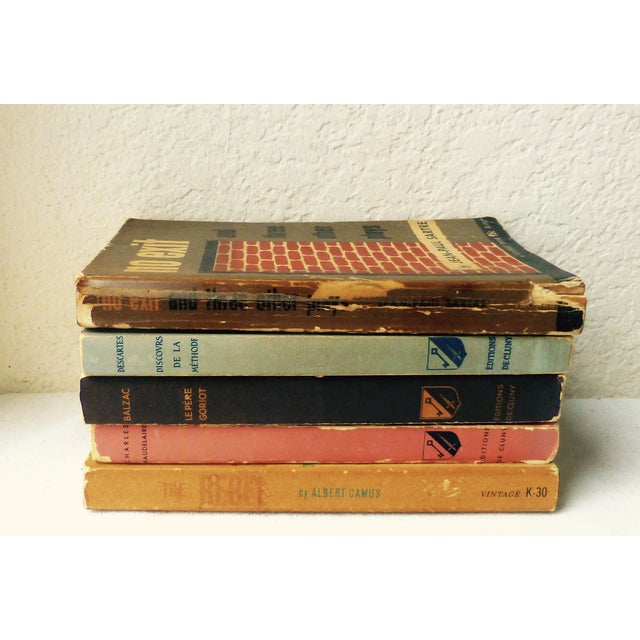 Image of Vintage French Paperback Books - Set of 5