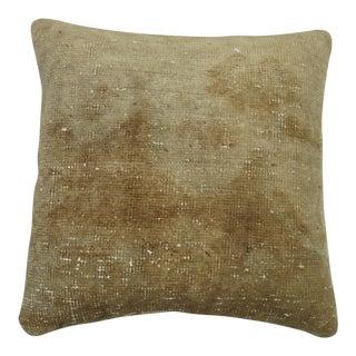 Vintage Monochromatic Oushak Rug Pillow