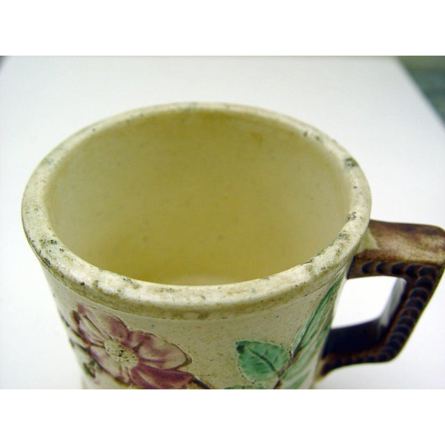 Antique Majolica Mug With Roses - Image 4 of 5