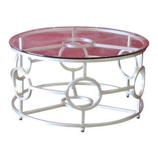 Deco Silver Gilt Glasstop Coffee Table