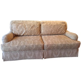 Hendredon Gold Silk & Wool Sofa