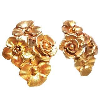 Craft Goldtone Floral Earrings