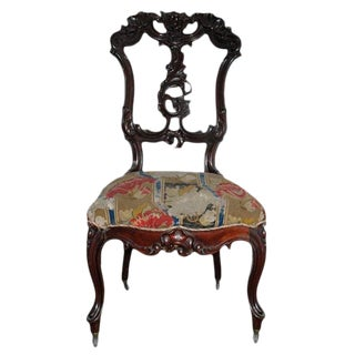 Rococo Revival Carved Walnut Chair