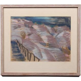 """""""Stairway to Lavender"""" Vintage Pastel Drawing"""