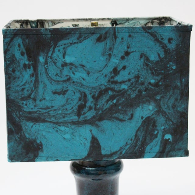 Transitional Marble Blue Table Lamp - Image 5 of 5