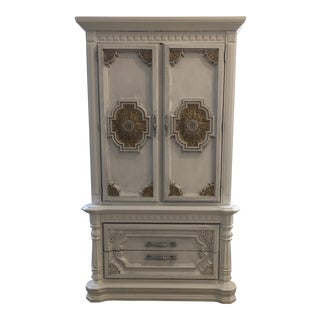 Neoclassical Style Solid Wood Armoire