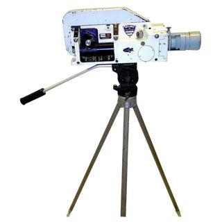 Military Analysis Cinema Camera. Circa Mid 20th Century. Display As Sculpture. On Vintage Tripod.