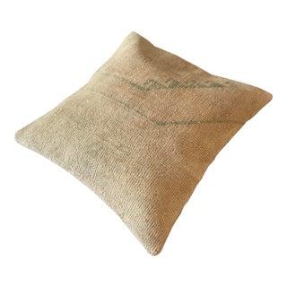 Vintage Oushak Wool Rug Pillow/Cushion