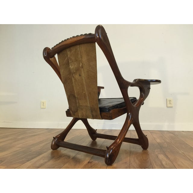 Don Shoemaker Studio Rosewood Swing Chair - Image 8 of 11