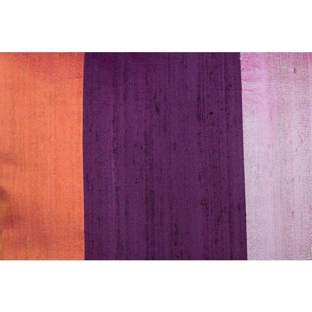 Silk & Velvet Stripe Pillows - A Pair - Image 3 of 5