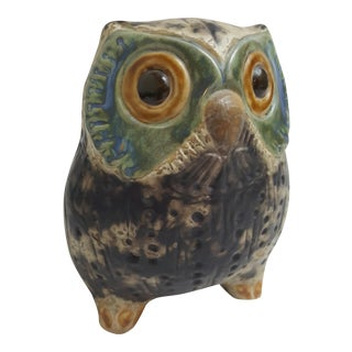 Vintage Spanish Porcelain Owl by Antonio Ballester