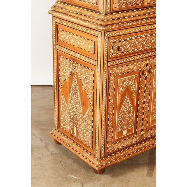 Richly Inlaid Indian Cabinet - Image 9 of 10
