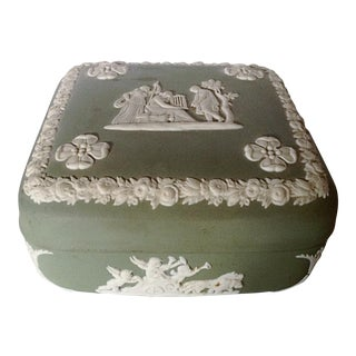 Wedgwood Jasperware Box in Jade