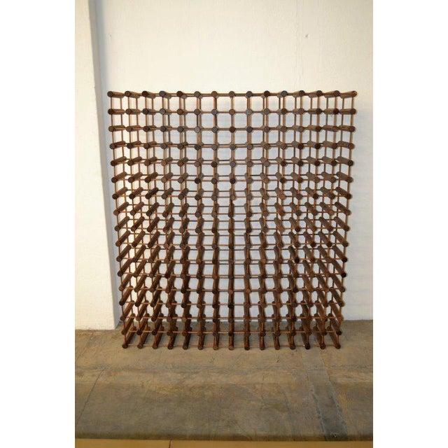 Monumental Modernist Wood Wine Rack - Image 5 of 5