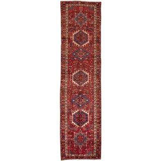 "Apadana - Vintage Persian Heriz, 3'4"" x 12'7"""