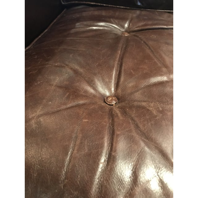 Tufted Brown Leather Armchair - Image 4 of 4