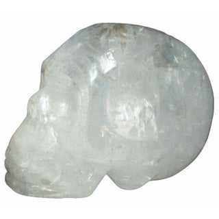Quartz Crystal Skull with Rainbows Inside