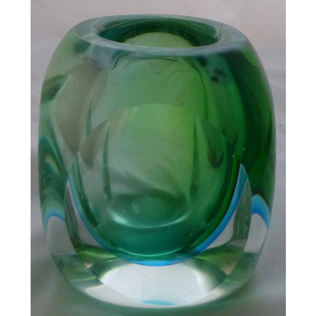 Vintage Murano Glass Sommerso Vase by Flavio Poli - Image 4 of 9