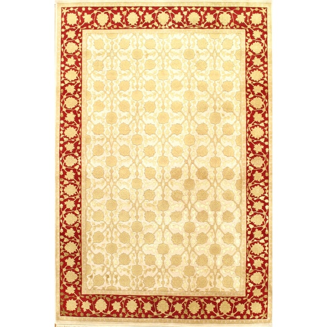 Image of Hand-Knotted Indian Agra Rug - 6' X 9'