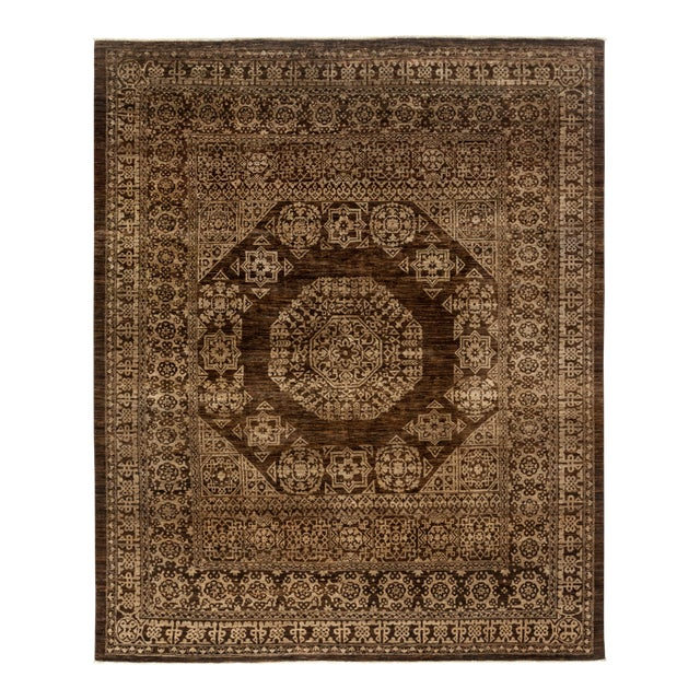 """Gabbeh Hand Knotted Area Rug - 7'9"""" X 9'6"""" - Image 1 of 4"""