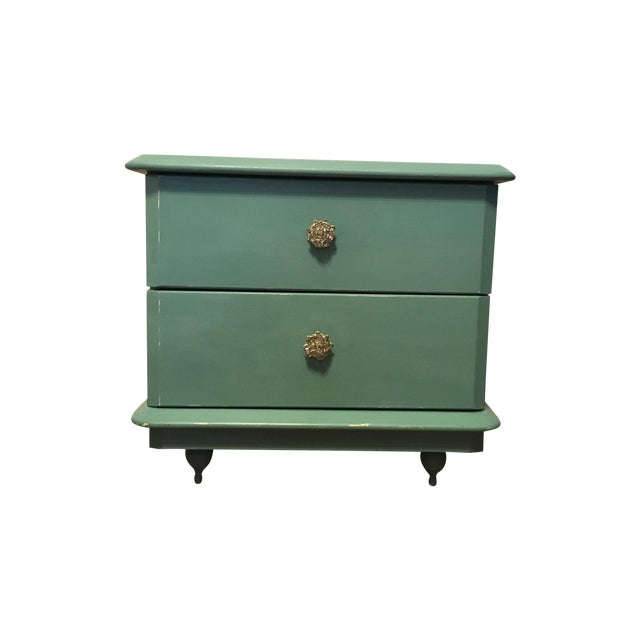 Lane Teal Nightstand - Image 1 of 5
