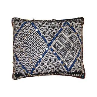 Moroccan Blue Diamond Pillow
