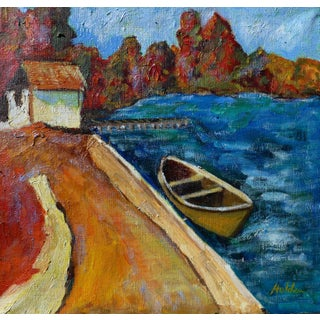 """""""Autumn Lake"""" Original Oil Painting by Martha Holden"""