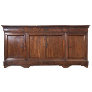 FRENCH 19TH CENTURY WALNUT LOUIS PHILIPPE ENFILADE
