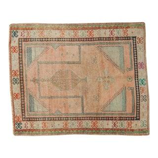 "Vintage Oushak Prayer Square Rug - 2'9"" x 3'4"""