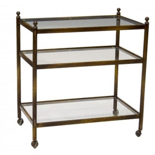 Mid-Century Metal & Glass Bar Cart