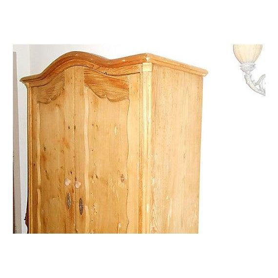Double-Door Swedish Pine Armoire - Image 3 of 4