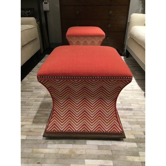 Wesley Hall Comcavo Ottomans - a Pair - Image 2 of 8
