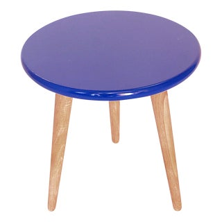 High Lacquer Stool - Blue