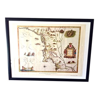 """Vintage American Heritage 1950s """"The New Netherlands & New England in 1635"""""""