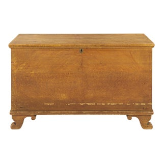 American Grain Painted Blanket Chest on Scrolled Feet
