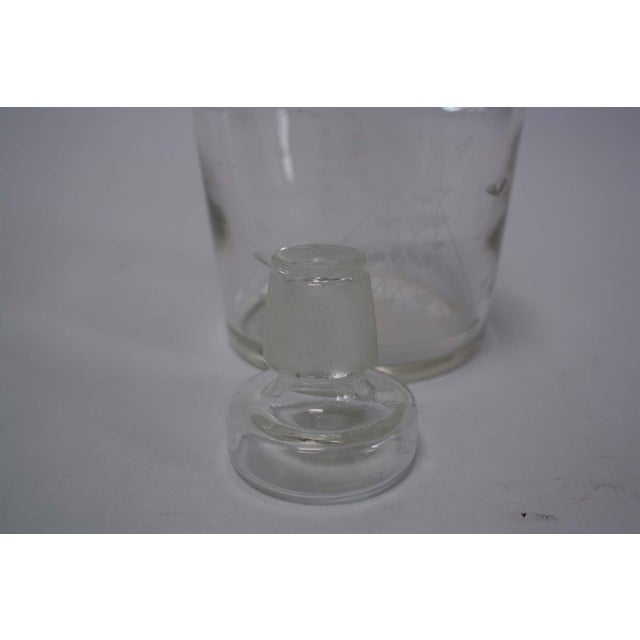 Nautical Etched Ship Glass Liquor Decanter - Image 4 of 5