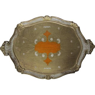 Florentine Gold Tray with Handles