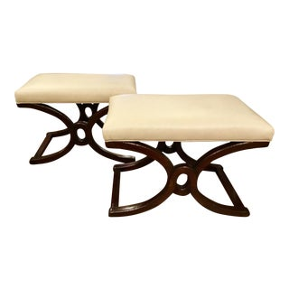 Thomasville Leather Studio Benches - A Pair
