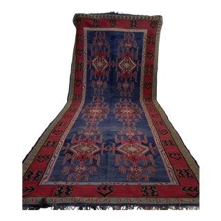 "Antique Hand-Woven Caucasian Rug Kilim - 6'1"" x 15'10"""