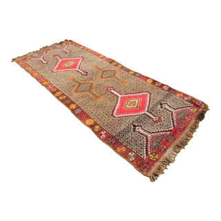 1940's Turkish Area Rug - 4′4″ × 9′3″