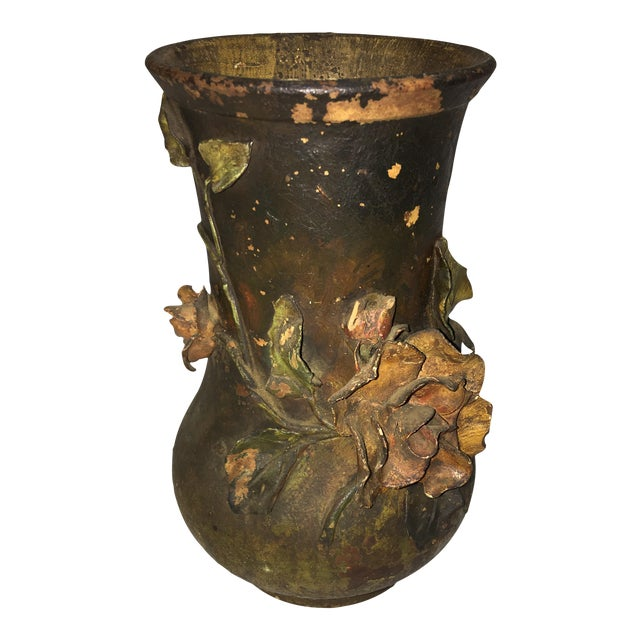 Ceramic Rose Motif Vase - Image 1 of 8