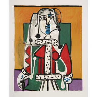 Picasso 'Femme Assise a La Robe D'Hermine' Print