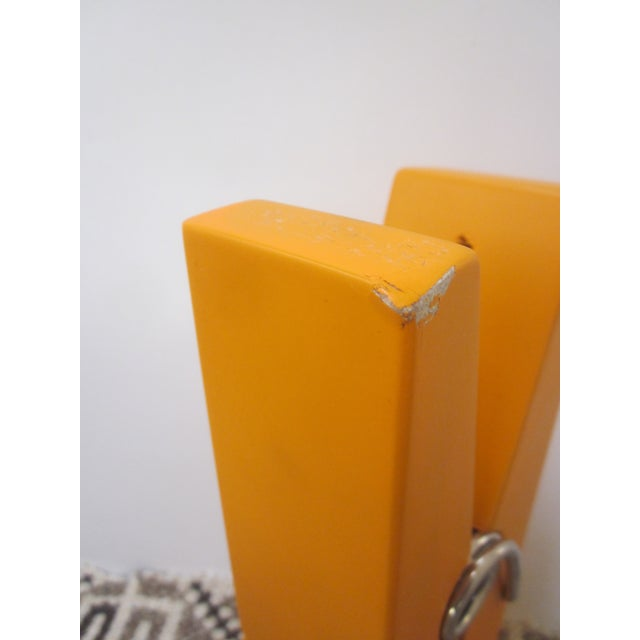 Oversize Pop Art Orange Wooden Clothes Pin - Image 6 of 7