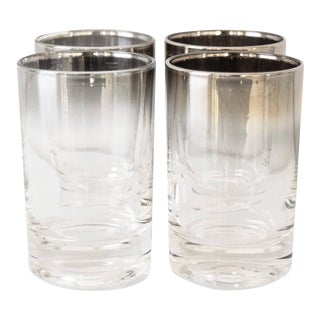 Mid Century Dorothy Thorpe Silver Fade Shot Glasses - Set Of 4