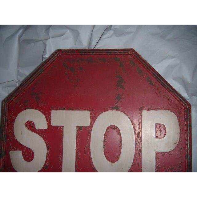 "Tin Retro ""STOP"" Sign - Image 3 of 5"