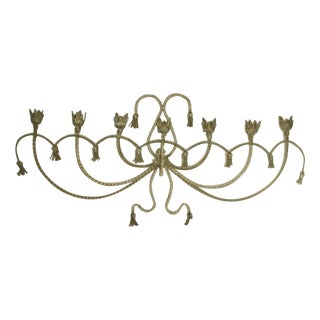Antique Early 1900's Italian 7 Candle Candelabra Sconce