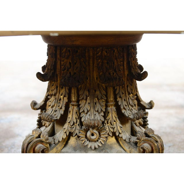 Venetian End Tables with Rococo Pedestals - A Pair - Image 7 of 11