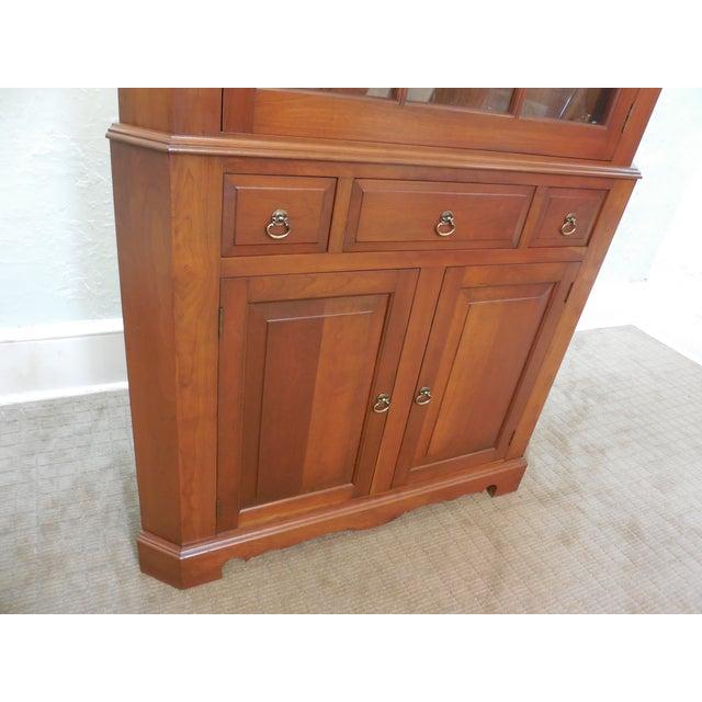 Vintage Custom Solid Cherry Corner Cabinet - Image 7 of 10